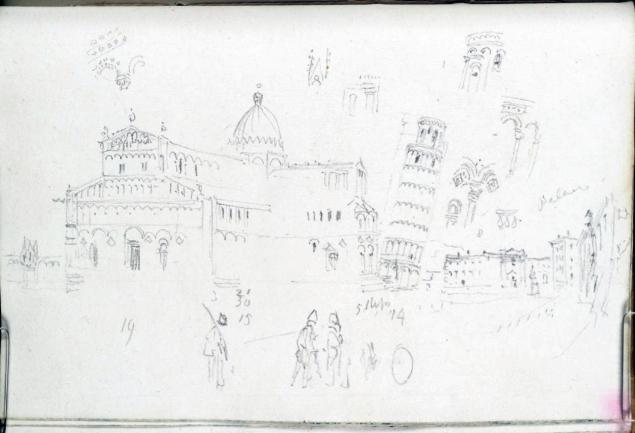The Duomo and Campanile, Pisa 1828 by Joseph Mallord William Turner 1775-1851