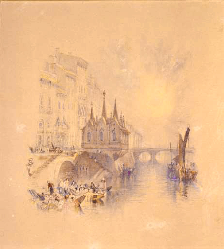 J. M. W. Turner, Santa Maria della Spina, Pisa.