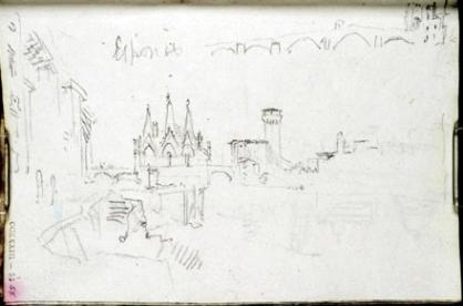 J. M. W. Turner, Santa Maria della Spina su fiume Arno, Pisa.