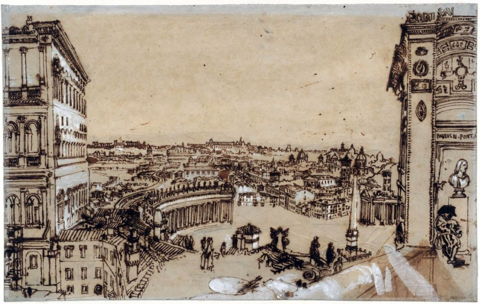 Study for 'Rome from the Vatican' 1819 by Joseph Mallord William Turner 1775-1851