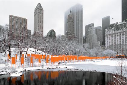 The Gates, Central Park, New York City, 1979-2005.