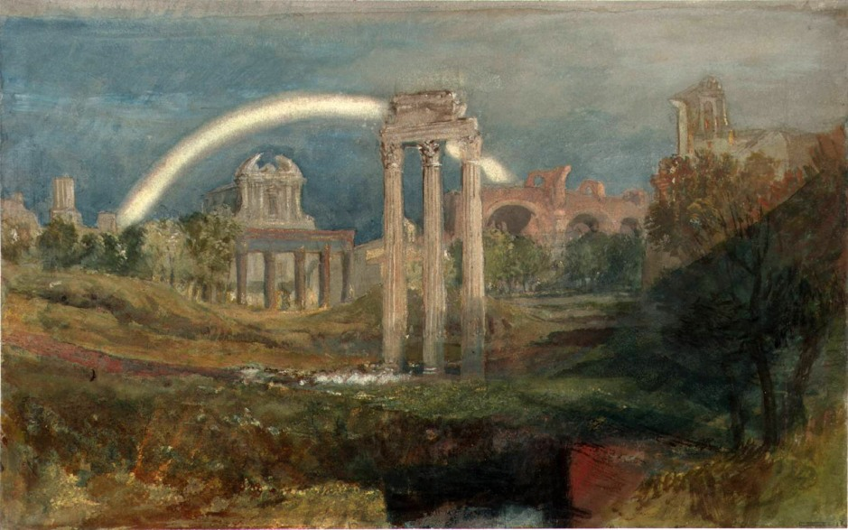 Rome: The Forum with a Rainbow 1819 by Joseph Mallord William Turner 1775-1851