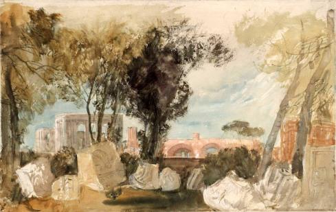J. M. W. Turner, Rovine di Roma, vista dal Palatino (dall'Album Roma, studi a colori).