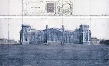 Wrapped Reichstag, Berlin, 1971-95 b