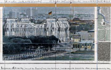 Wrapped Reichstag, Berlin, 1971-95 c
