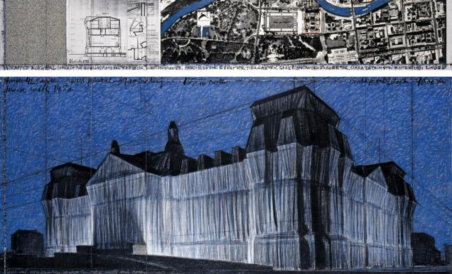 Wrapped Reichstag, Berlin, 1971-95 d