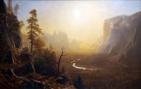 Albert Bierstadt, Yosemite Valley glacier point trail.