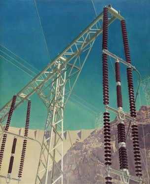 Charles Sheeler, Conversation - Sky and Earth; 1940; Oil on canvas; Amon Carter Museum of American Art, Fort Worth, Texas; 2009.7