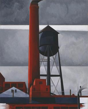 Charles Demuth; Chimney and Water Tower.