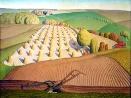 Grant Wood, Fall plowing.