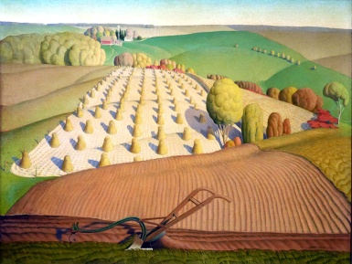 Grant Wood, Fall plowing.