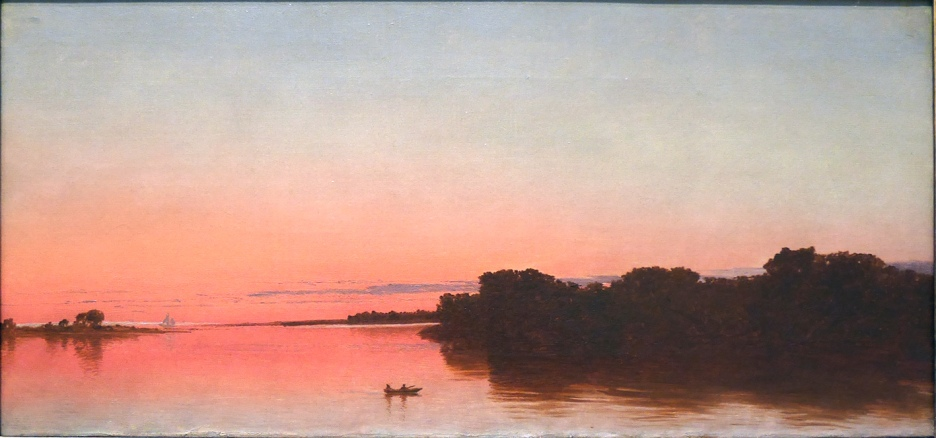 J. F. Kinsett, Twilight on the sound, Darien, Connecticut.