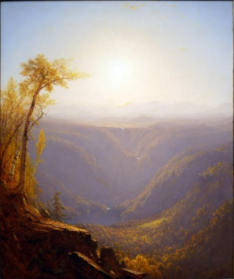 S. R. Gifford, A gorge in the mountains, Kauterskill clove.