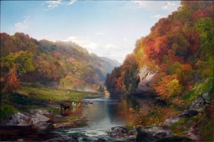 Thomas Moran, Autumn afternoon, the Wissahickon.