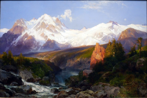 Thomas Moran, The teton range.