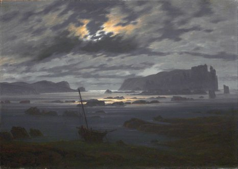 Caspar David Friedrich, Northern sea in the moonlight.