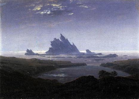 Caspar David Friedrich, Rocky reef on the seashore.