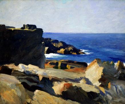 Edward Hopper, Square rock, Ogunquit.
