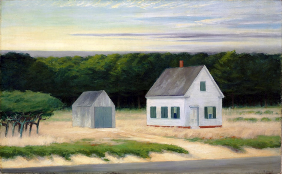 Edward Hopperís October on Cape Cod oil
