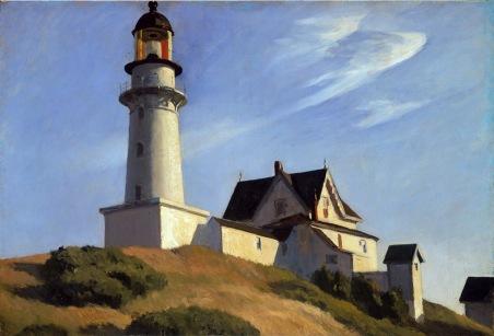 Edward Hopper, Il faro di Two Lights, 1929
