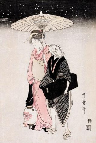 kitagawa-utamaro-passeggiata-notturna-sotto-la-neve-1797-1798-circa