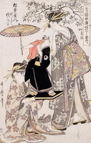 kitagawa-utamaro-yoyogiku-e-yoyotsuru-della-matsubaya-dalla-serie-illustrazione-completa-delle-parodie-del-kabuki-di-yoshiwara-1798