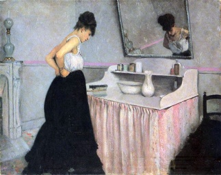 caillebotte-donna-al-dressing-table