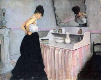 caillebotte-donna-al-dressing-table