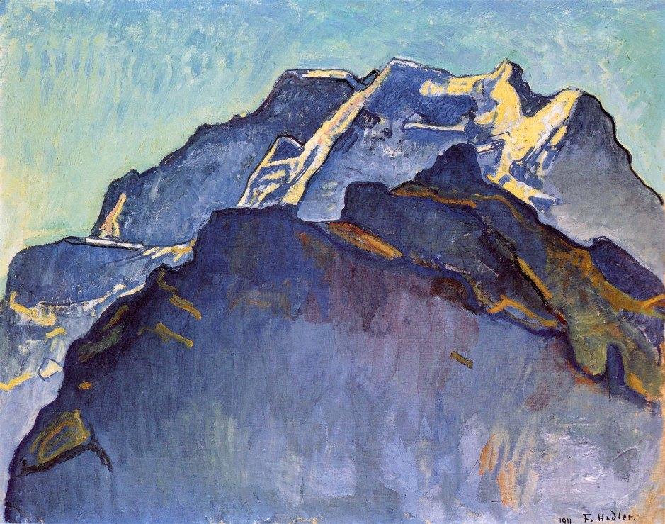 ferdinand-hodler-jungfrau-massif-and-schwarzmonch-1911