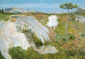 Giovanni Segantini, Amore alla fontana della vita.