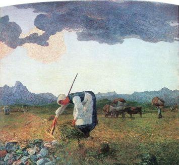 Giovanni Segantini, La raccolta del fieno.