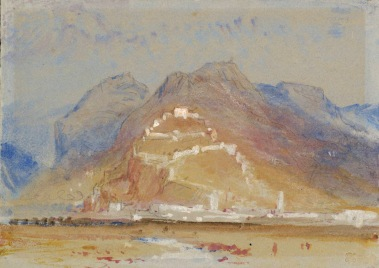 J. M. W. Turner, Mountain Scene, with Castle on Rock