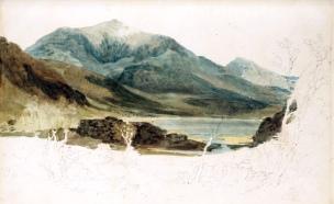 J. M. W. Turner, Snowdon and Yr Aran from Llyn Cwellyn.