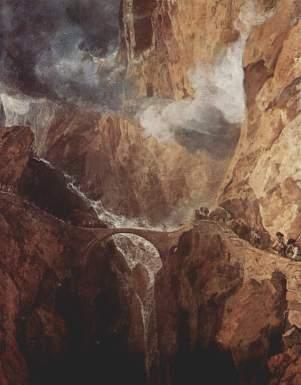 J. M. W. Turner, San Gottardo, Ponte del Diavolo.
