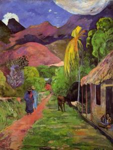 Paul Gauguin, Strada in Tahiti.