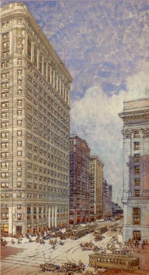 Daniel H. Burnham, Proposta di facciata per il Conway Building, 1895.