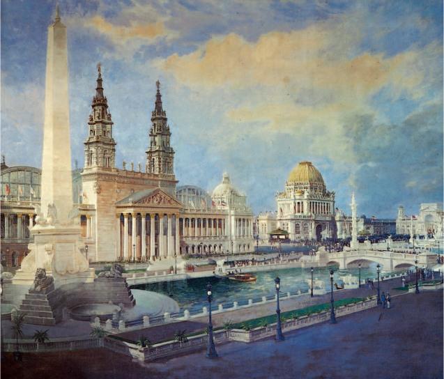 Lewis Edward Hickmott, la corte d'onore dell'esposizione Colombiana, 1894.