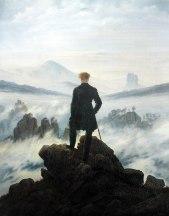 Caspar David Friedrich, il viandante nella nebbia.