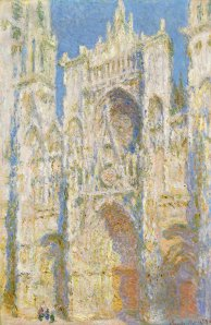 Claude-Monet-cattedrale-Rouen_facciata-ovest-soleggiata