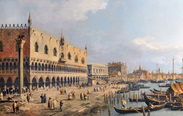 Canaletto, 1697-1768; The Doge's Palace and Riva degli Schiavoni, Venice
