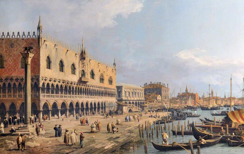 Canaletto, 1697-1768; The Doge's Palace and Riva degli Schiavoni, Venice
