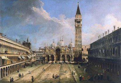 Canaletto, Piazza San Marco a Venezia.