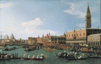 Canaletto, Ritorno del Bucintoro nel giorno dell'Ascensione.