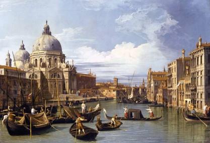 Canaletto, Accesso al Canal Grande, Venezia.