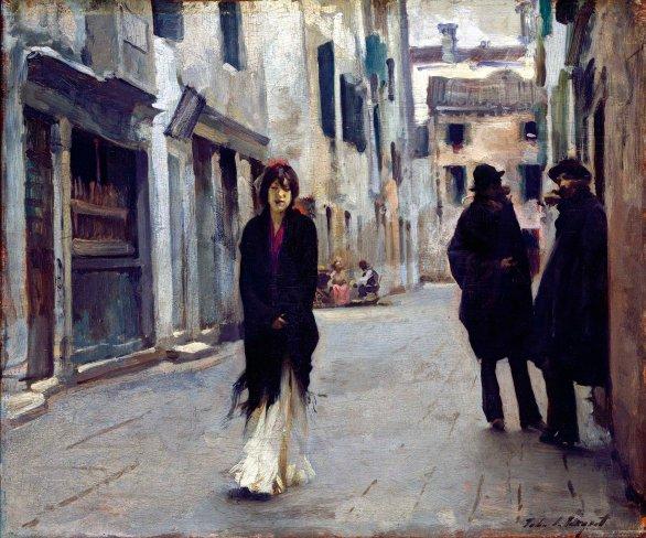 John Singer Sargent,Strada veneziana.