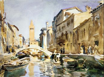 John Singer Sargent, Canale veneziano.
