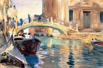 John Singer Sargent, Ponte San Giuseppe di Castello, Venezia.