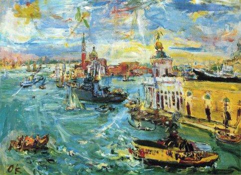 Oskar Kokoschka, la Dogana a Venezia