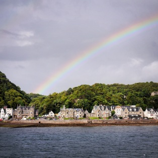 L'arcobaleno sopra Oban.