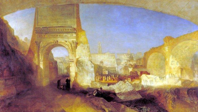 Forum Romanum, for Mr Soane's Museum exhibited 1826 by Joseph Mallord William Turner 1775-1851
